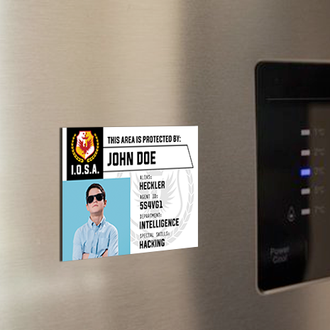 Secret Agent Fridge Magnet (100 x 70mm) - $13.90/ Pack of 8
